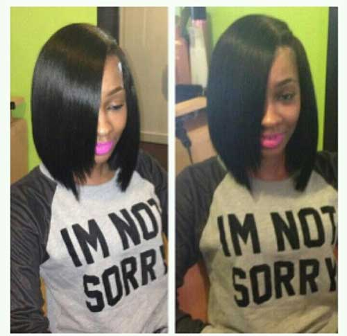 Long Bob Hairstyles for Black Women-8