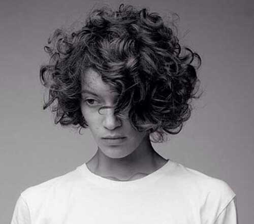 Curly Messy Bob Hair for Girls