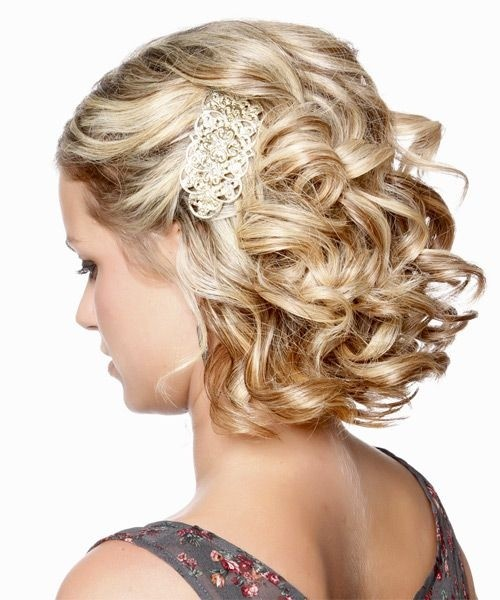 Bridesmaid Hairstyles for Short Hair: Side View