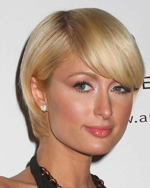 Very Short Bob Hairstyles with Bangs for Round Faces