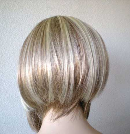 Grey White Straight Bob