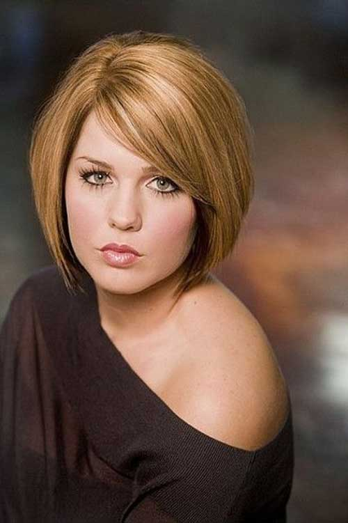 Short Bobs for Round Faces-15