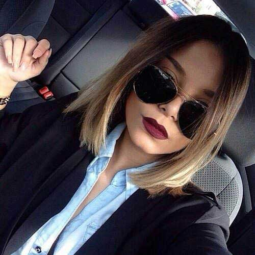 Ombre Straight Bob Hairstyles
