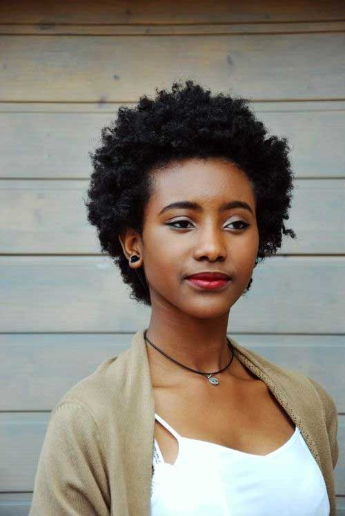 Hairstyles for Short Natural Hair-10