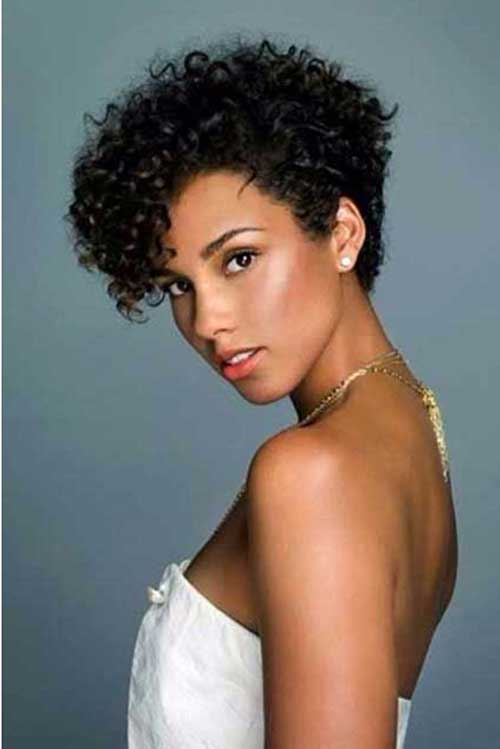 Short Curly Hair Styles-11