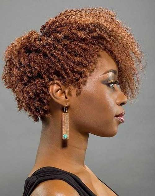 Hairstyles for Short Natural Hair-9