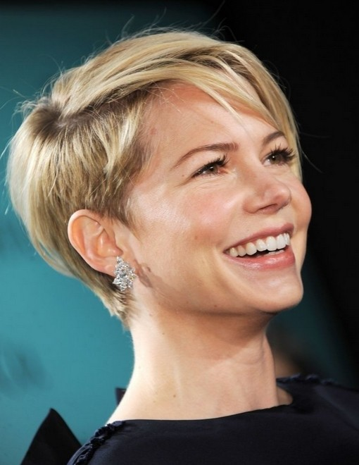 Michelle Williams Short Hair Style - Celebrity Pixie Haircuts