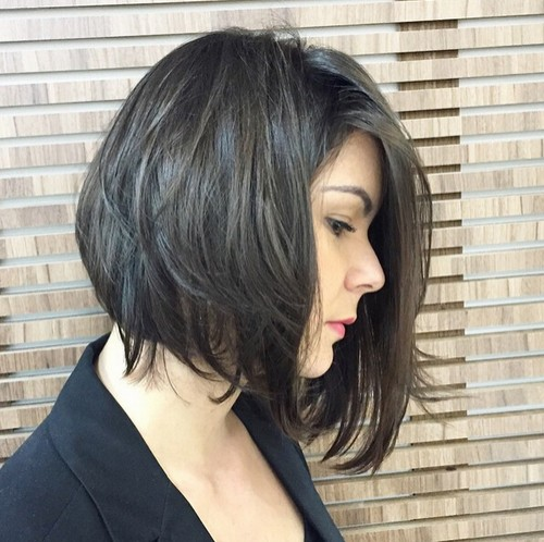 Messy A-line Bob Hair Style - Office Hairstyles Ideas 2018
