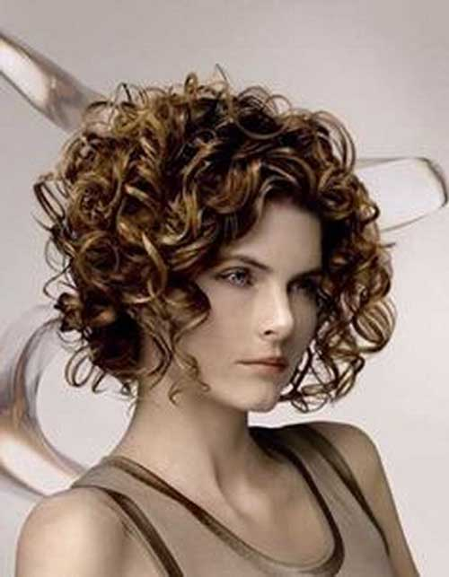 Brown Bob Hairstyles for Curly Hair 2018