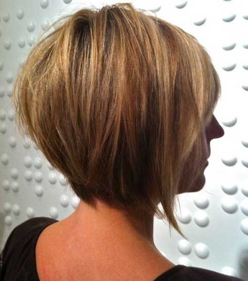 New Short Straight Bob Hair Style Side View