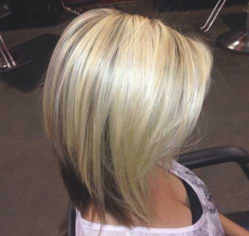 Long Angled Blonde Bobs Cuts