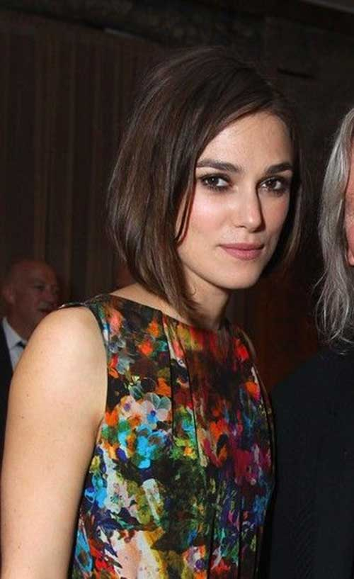 Keira Knightley Straight Medium Bob Hairstyles