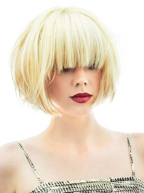Bob Hairstyle with Bangs-14