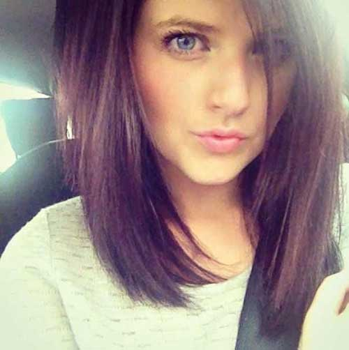 Cute Long Angled Straight Bob Haircuts