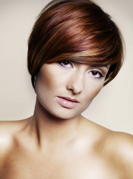 Lovely Pixie Cut with Hues of Varied Colors