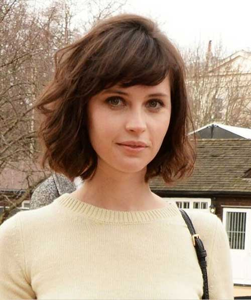Short Bob Hairstyles with Side Swept Bangs-12