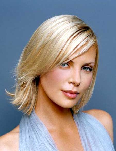 Simple and Straight Short Blonde Hairstyle