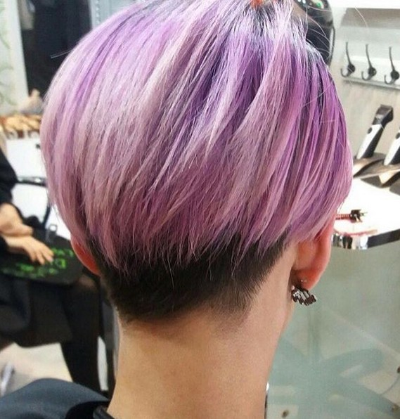 Undercut with Thick Hair - Balayage Pixie Haircut