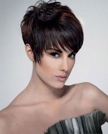 Lovely Pixie Cut with Artistic Fringes