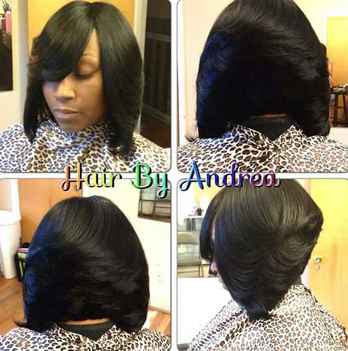Stylish Layered Short Weave Bob Hairstyles