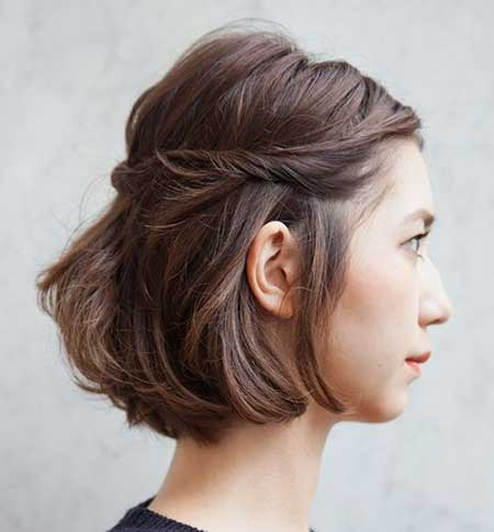 Simple Twisted Hairstyle with Bouncy Top for Girls