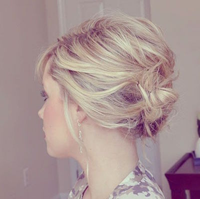 Messy Pinned Bun