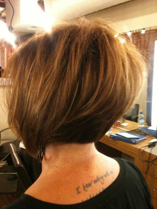 Graduated Thick Bob Haircut Pictures