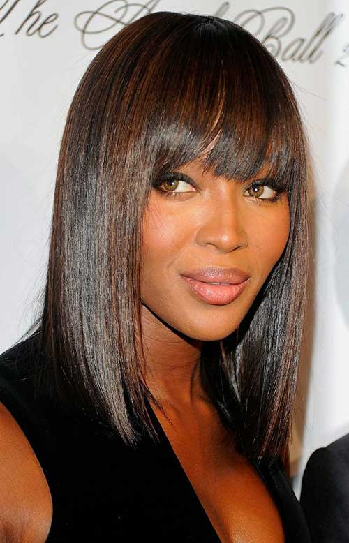Bob Hairstyles with Bangs for Black Women 2018-2018