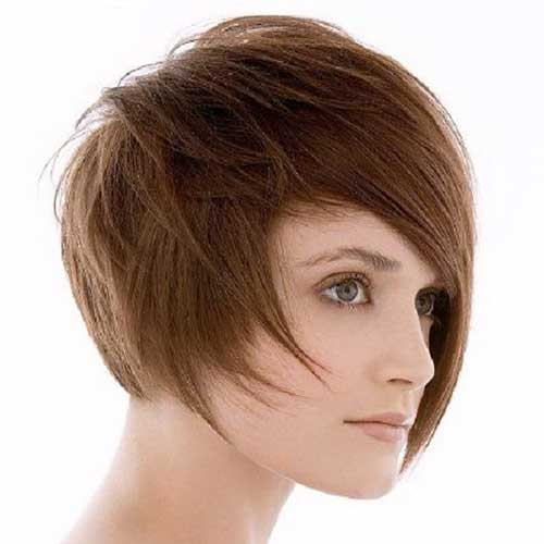 Thin Straight Asymmetrical Bob Cut