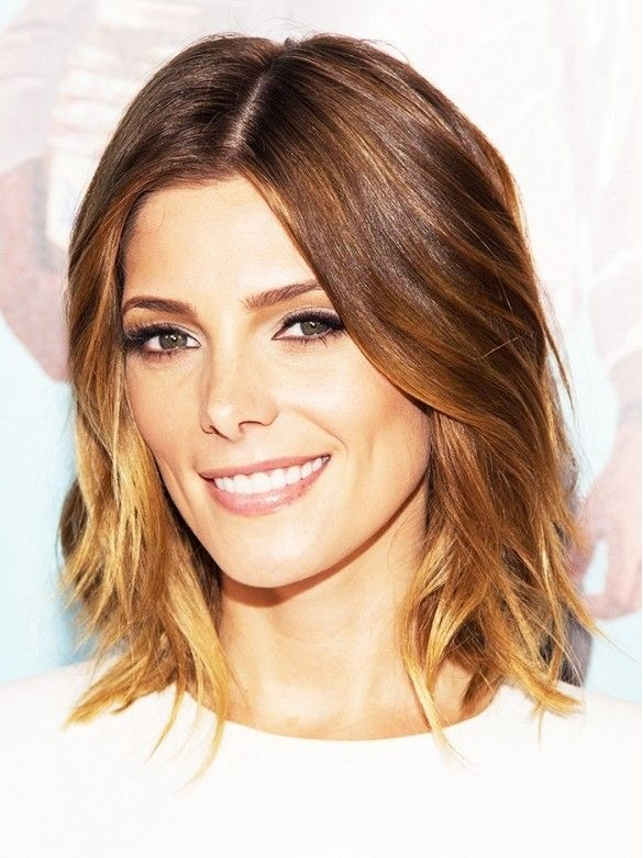 Ashley Greene Hair Style - Ombre wellige Frisuren für dünnes Haar