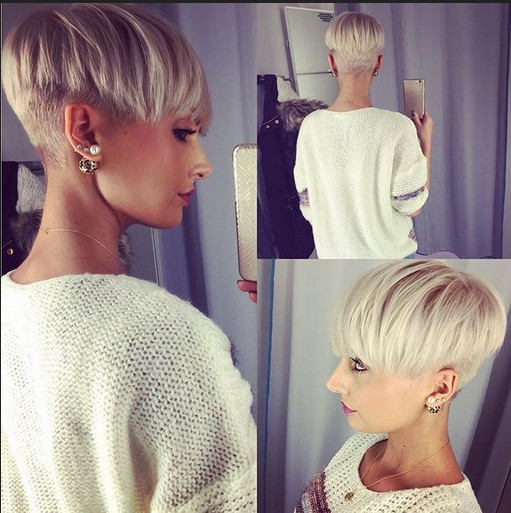 Niedlich, Undercut mit Pixie Style - Blonde kurze Frisuren für dickes Haar - Easy Everyday Frisur Design