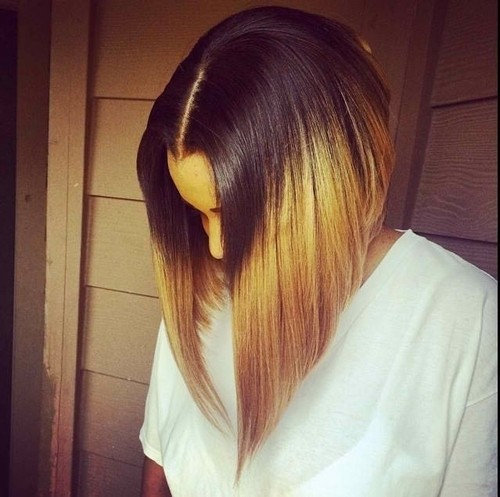 Straight Long Bob: Ombre-Frisuren