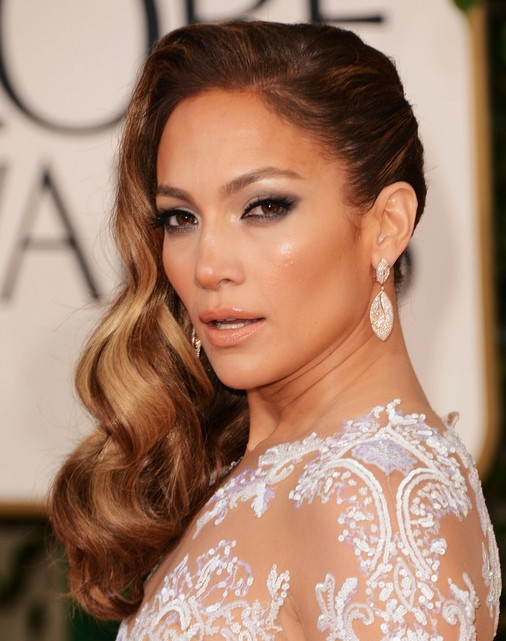 Jennifer Lopez Lange Frisuren: Side Waves Hair