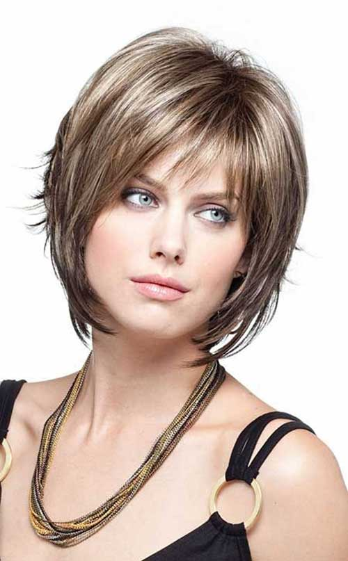 Elegant Layered Bob with Fringe