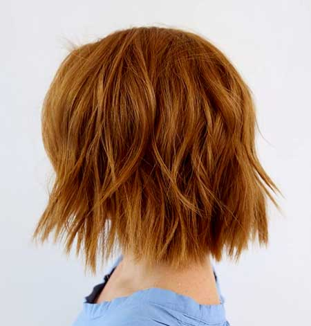 Straight and Blunt Wavy Short Hair for Girls