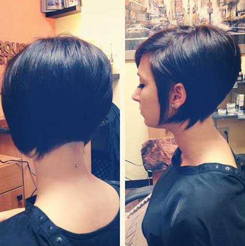Chic Dark Straight Bob Hairstyles