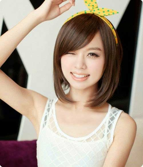 Asian Short Bob Hairstyle