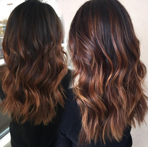 Beautiful, Texture Long Hairstyle for Thick Hair - Balayage Hair Styles for Long Hair