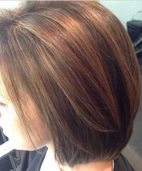 Highlighted Brown Bob Hair