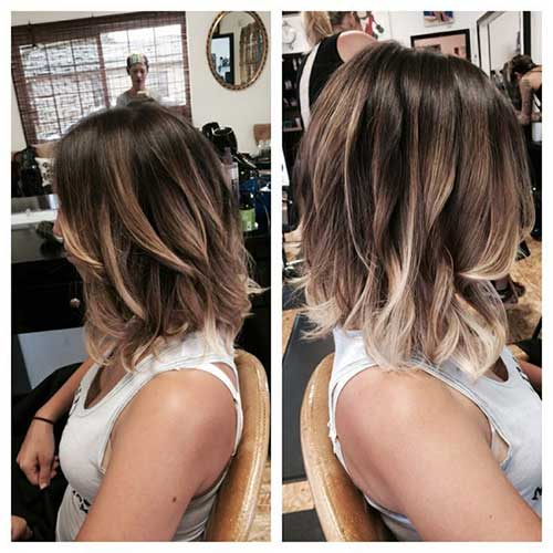 Highlighted Long Bob Haircuts for Women