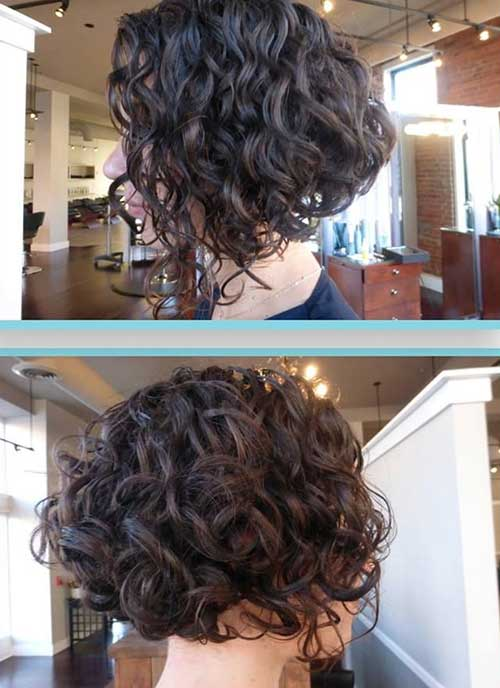Inverted Curly Bob Haircuts