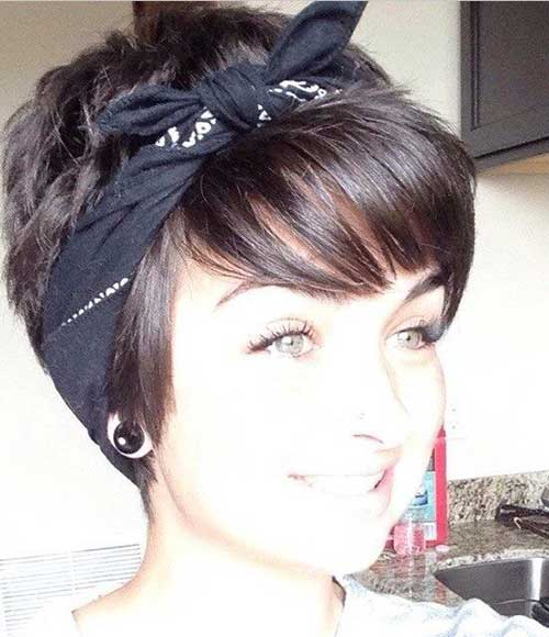 Best Cute Short Hair Styles with Headband