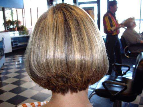 Asian Stacked Bob Cut Back View