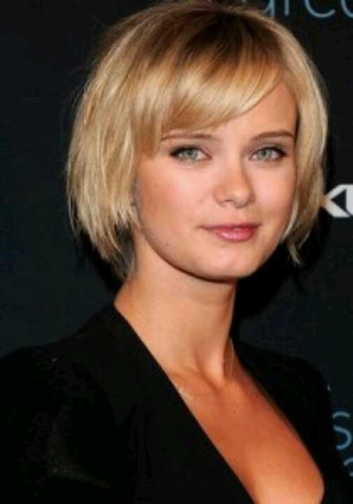 Side Bangs Bobs Cuts for Round Faces 2018