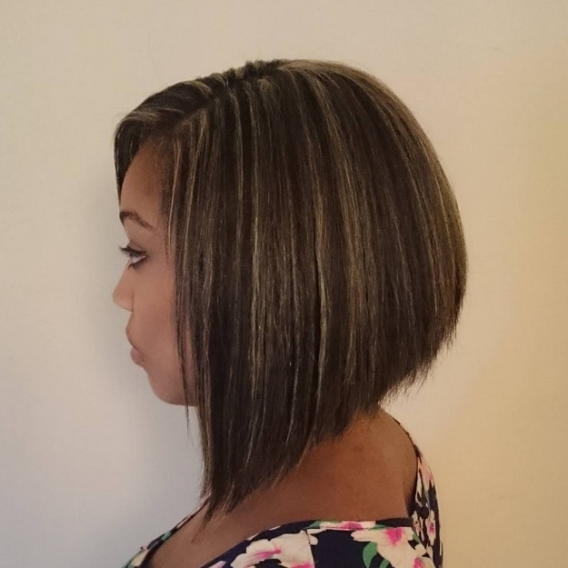 African American graduated bob hairstyle for black women