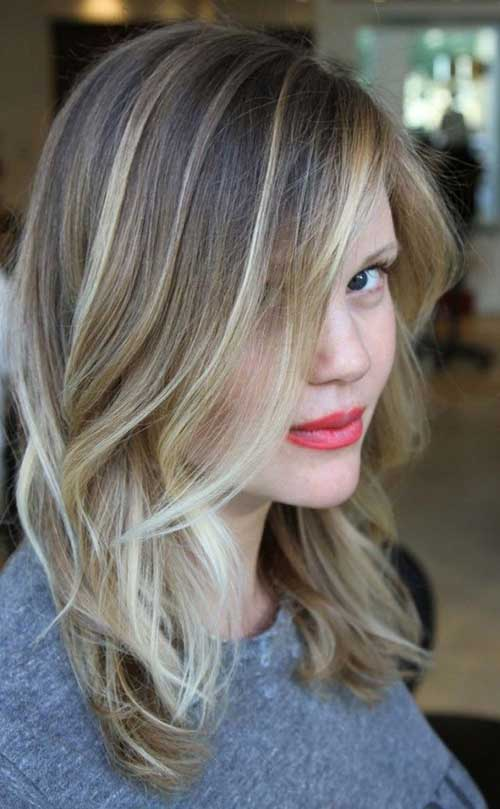Ash Blonde Long Bob with Balyage Highlights