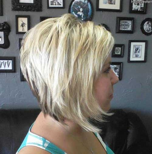 Concave Bob Highlighted Hairstyle