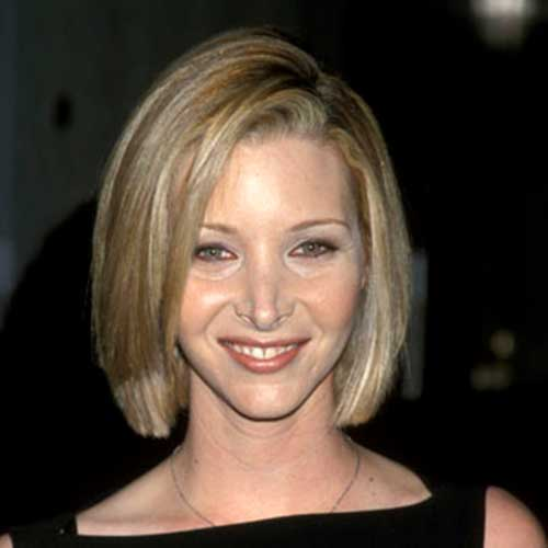 Blonde Bob Cut Side Swept Hairstyle Pictures