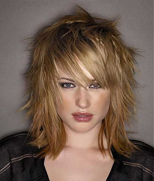 Medium Layered Razored Bob Hairstyles