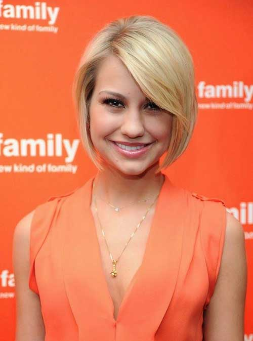 Short Bob Hairstyles with Side Swept Bangs-8
